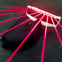 DJ Laser Glasses EL Wire LED Glasses Red Glowing Party Supplies Lighting Novelty Gifts Festival Party Glow Sunglasses