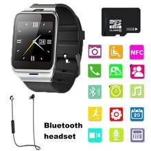 2017 Nueva Smartwatch GV18 Reloj Inteligente Bluetooth Para el iphone de Apple y Samsung Android Smartphone Del Reloj Relogio Del Teléfono Inteligente