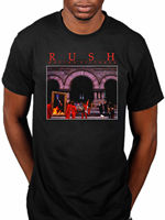 Official Rush Moving Pictures T Shirt Rock Band Tour Merch Geddy Lee Tee Shirt Mens 2017