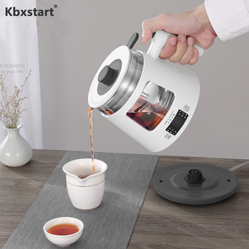 Kbxstart 800ml Mini Electric Kettle Teapot Multifunctional Automatic Health Preserving Pot Glass Boiled Tea Pot Warm Kettle 220V