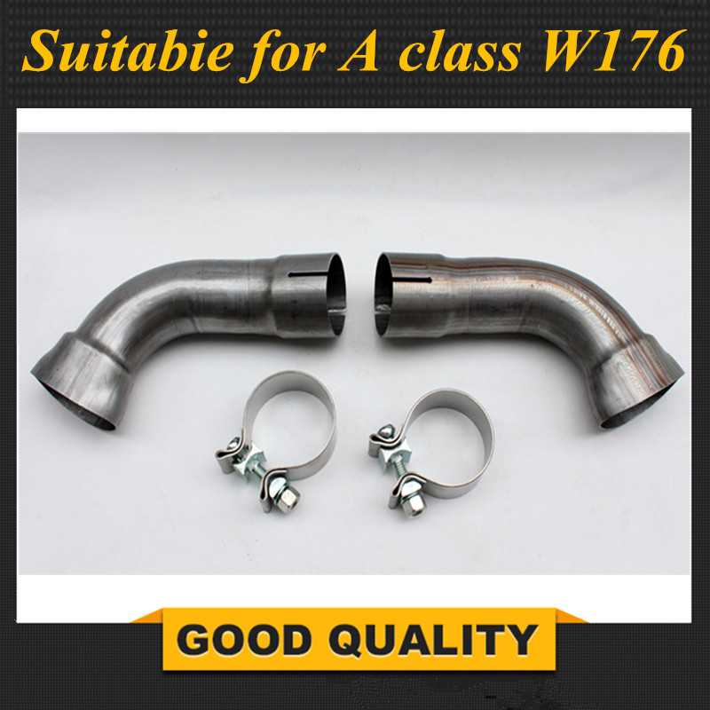 Tubes de transfert pour Mercedes W176 diffuseur avec Installation d'échappement 304 matériau en acier inoxydable