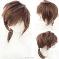 kagemine Len Brown Short Pigtail Heat Resistance Cosplay Anime Wig.Synthetic Hair
