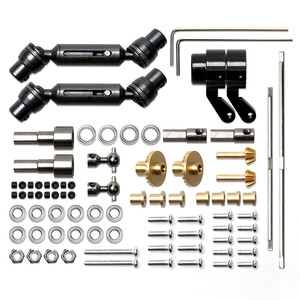 Image 2 - Upgrade For MN 1:12 D90 D91 RC Car Full Set of Metal Bridge Shaft Drive Shaft Toolkit Accessories Parts Steel/Copper Version