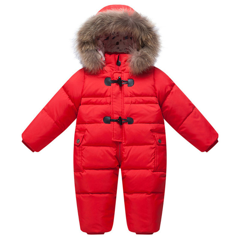 Cold Winter Baby Rompers Overalls Clothes Jumpsuit Newborn Girl Boy Duck Down Snowsuit Kids Infant Snow Wear Baby Onesie Park купить в Москве 2019