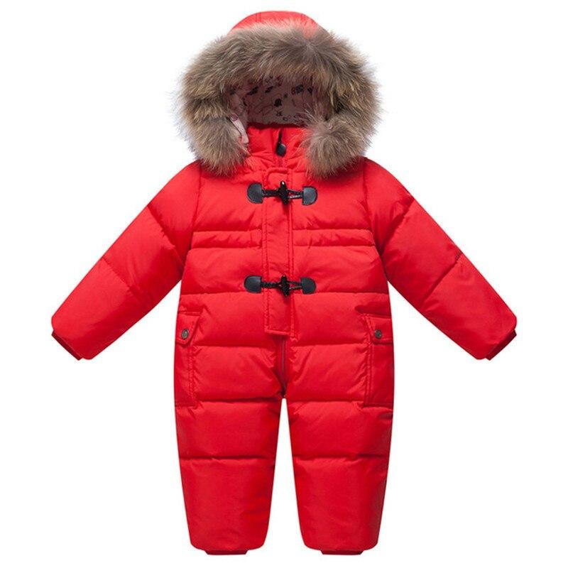 Cold Winter Baby Rompers Overalls Clothes Jumpsuit Newborn Girl Boy Duck Down Snowsuit Kids Infant Snow Wear Baby Onesie Park