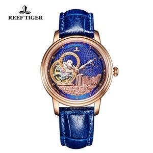 Image 4 - ساعة يد فاخرة للرجال ماركة ريف تايجر/RT تصميم كلاسيكي أوتوماتيكية ساعة يد من الياقوت والكريستال والذهبي الوردي RGA1739