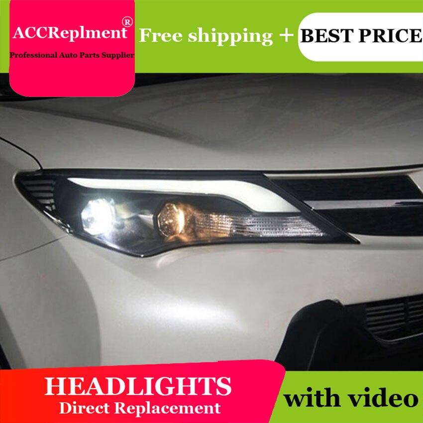AUTO. PRO pour toyota RAV4 LED xénon phares voiture style 2013-2015 bi xénon lentille pour RAV4 LED DRL xénon H7 phares