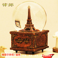 Practical crystal ball music box snowflake birthday boys and girls students special bestie Romantic Friendship