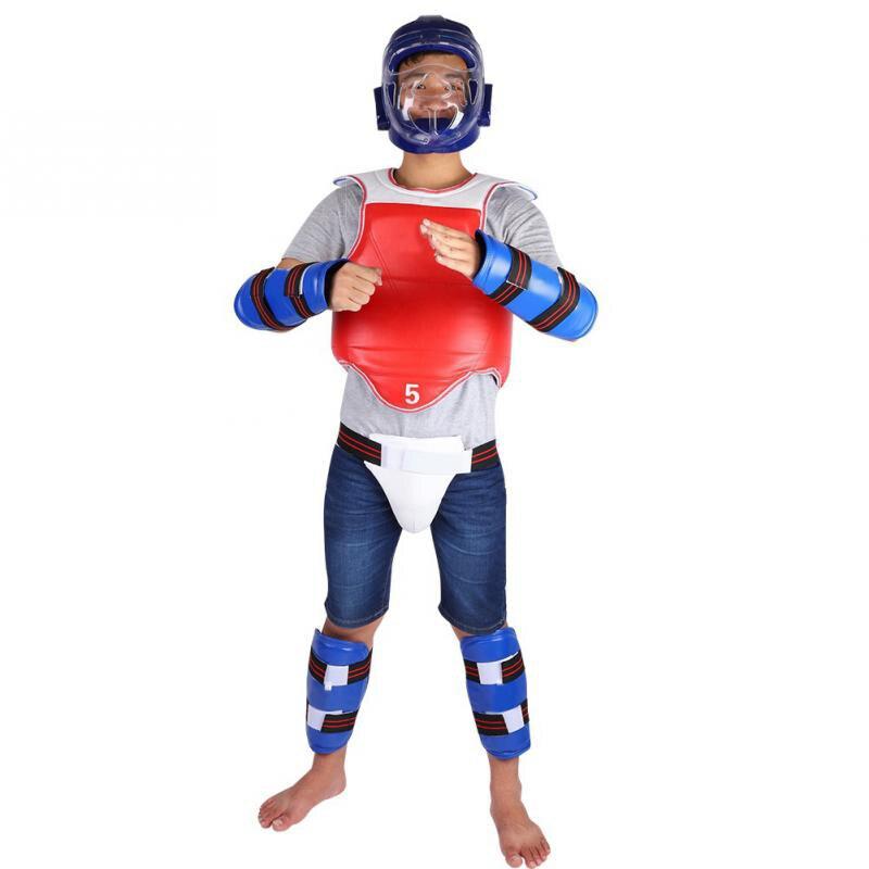 Corps Prend En Charge Ensemble Unisexe Taekwondo Aine Garde Bras Bande De Boxe Karaté Entrejambe Protecteur Accolades Posture Correcteur Ceinture Soins de Santé