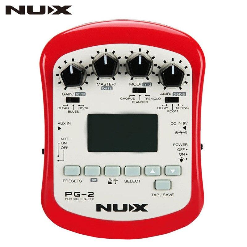 NUX PG-2 Multiples Électrique Guitare Pédale D'effet Portable Guitare Pédale Professeur 3 Pré-amp 6 Modulation Effets Synthétiseur