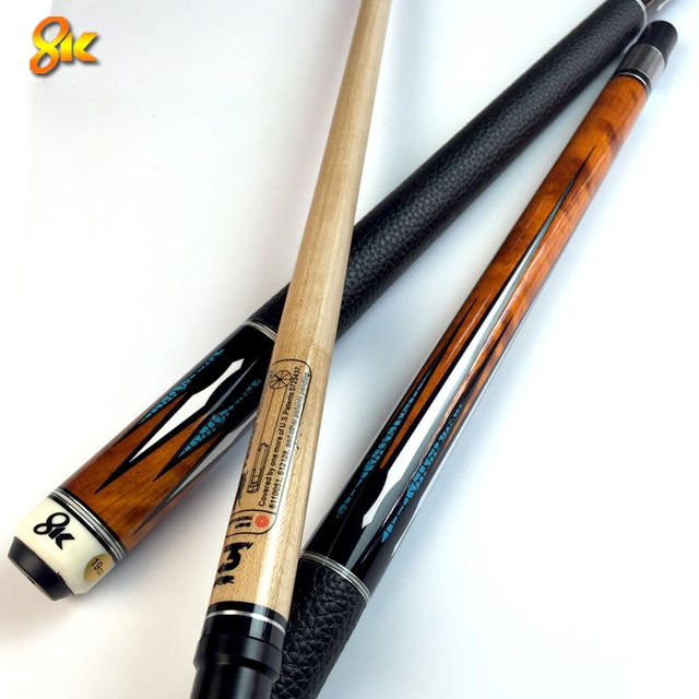 NEW 8K4 China Billiard Pool Cues Stick 11.5mm 12.75mm Tip 8 Pieces Wood Laminated Technology Shaft 2018