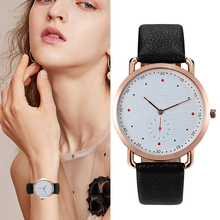 лучшая цена Ladies Quartz High Quality Watches Creative Design Women Fashion Leather Strap Clock WristWatch Relogio Feminino