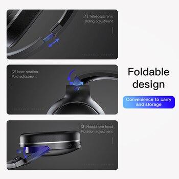 Baseus D02 Bluetooth Casque Pliable Sans Fil Casque Lourd Basse Casque Stéréo Portable Bluetooth écouteur Et Micro Pour Téléphone