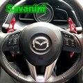 Savanini 2 шт. Алюминиевый Рычаг Переключения руля для Mazda3 Axela/Mazda 6 Atenza/CX-5 CX-4 Авто Стайлинг