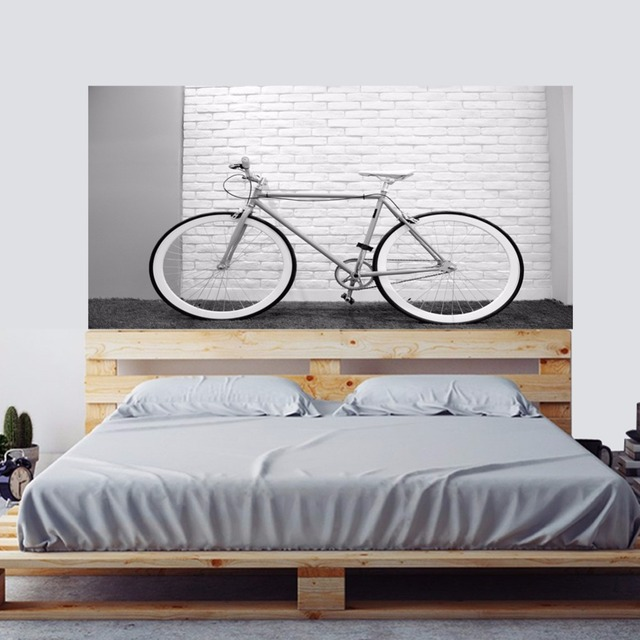 Life Is Like Riding A Bicycle Bed Headboard Bike Wall Sticker ...