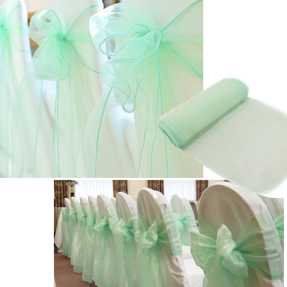 Promotion mint green 10m135m sheer organza swag fabric home promotion mint green 10m135m sheer organza swag fabric home wedding decoration organza fabric table curtain hq free shipping in party diy decorations junglespirit Images
