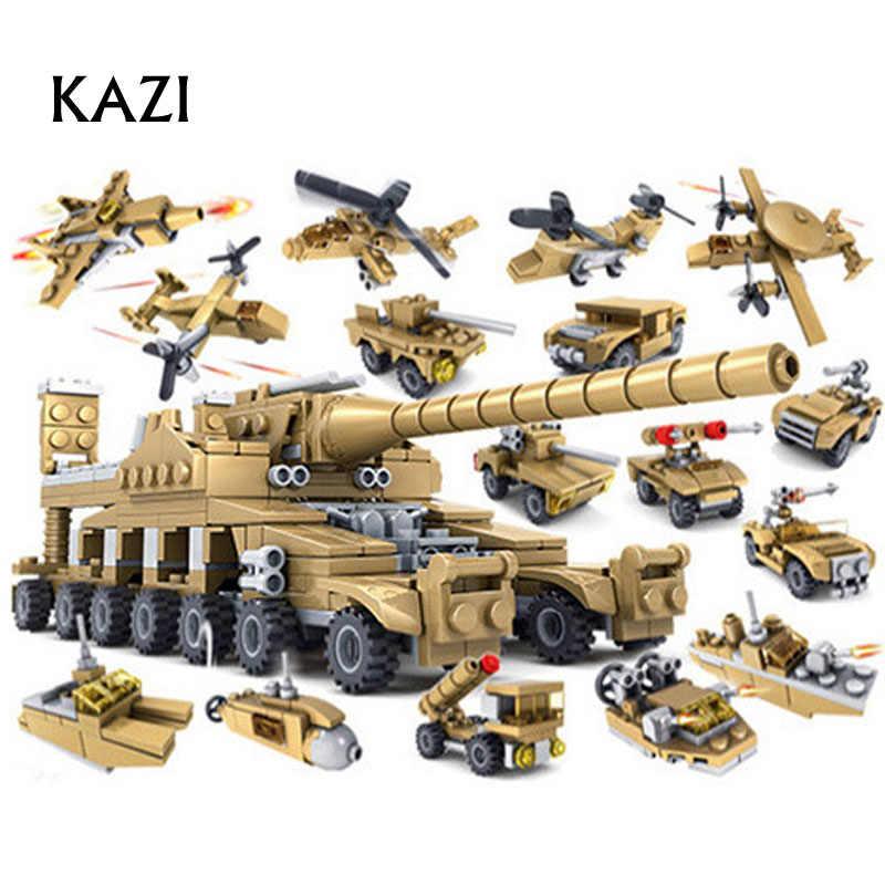 2018 nouveaux blocs de construction KAZI armes militaires 16 Assemblage1 Super réservoirs briques autobloquantes brinquedos jouets 16 unités en 1