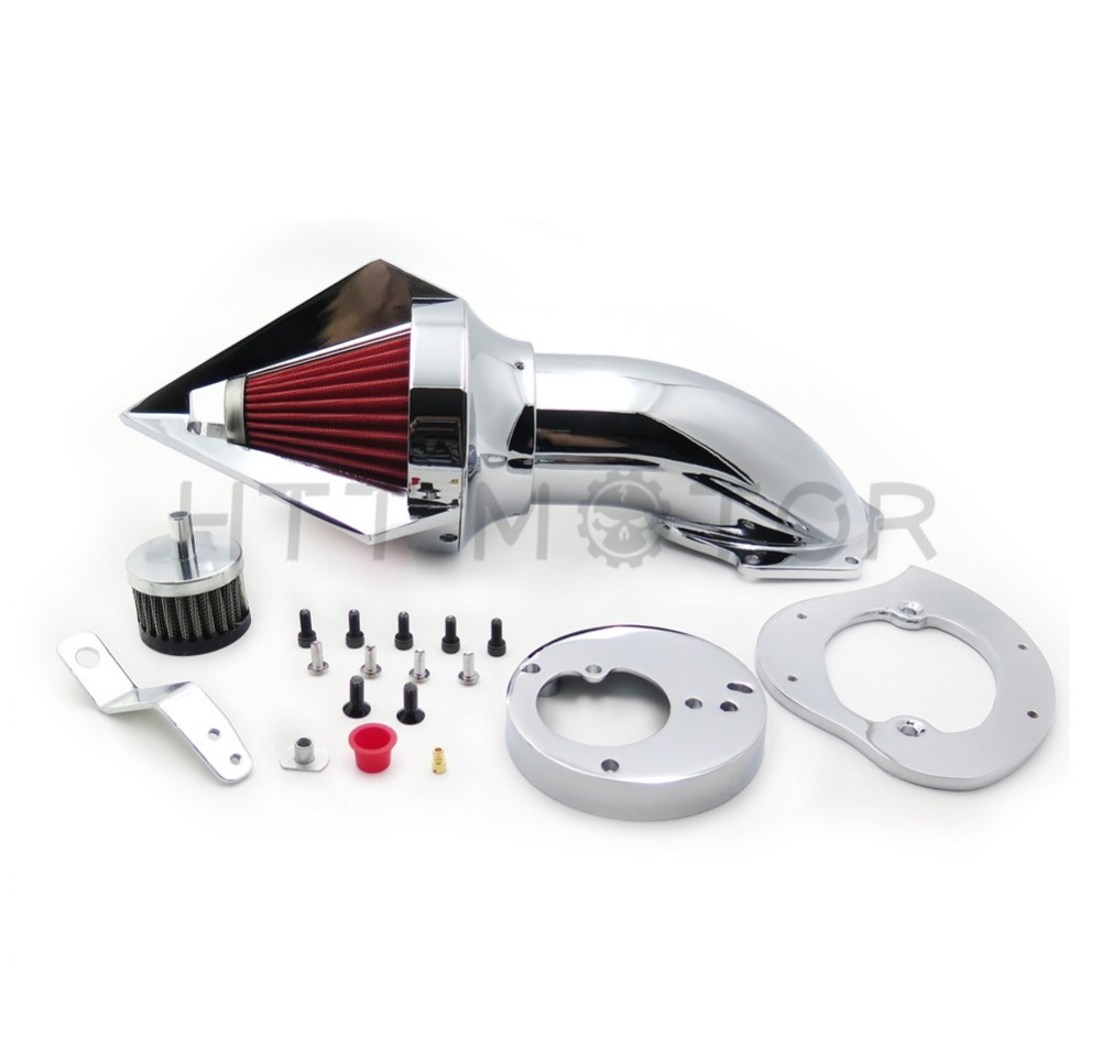 Aftermarket free shipping motorcycle parts Spike Air Cleaner intake filter for Honda  VTX1300 VTX 1300 1986-2012 Chromed aftermarket motorcycle parts spike air cleaner kits intake filter for honda shadow 600 vlx600 1999 2012 chromed