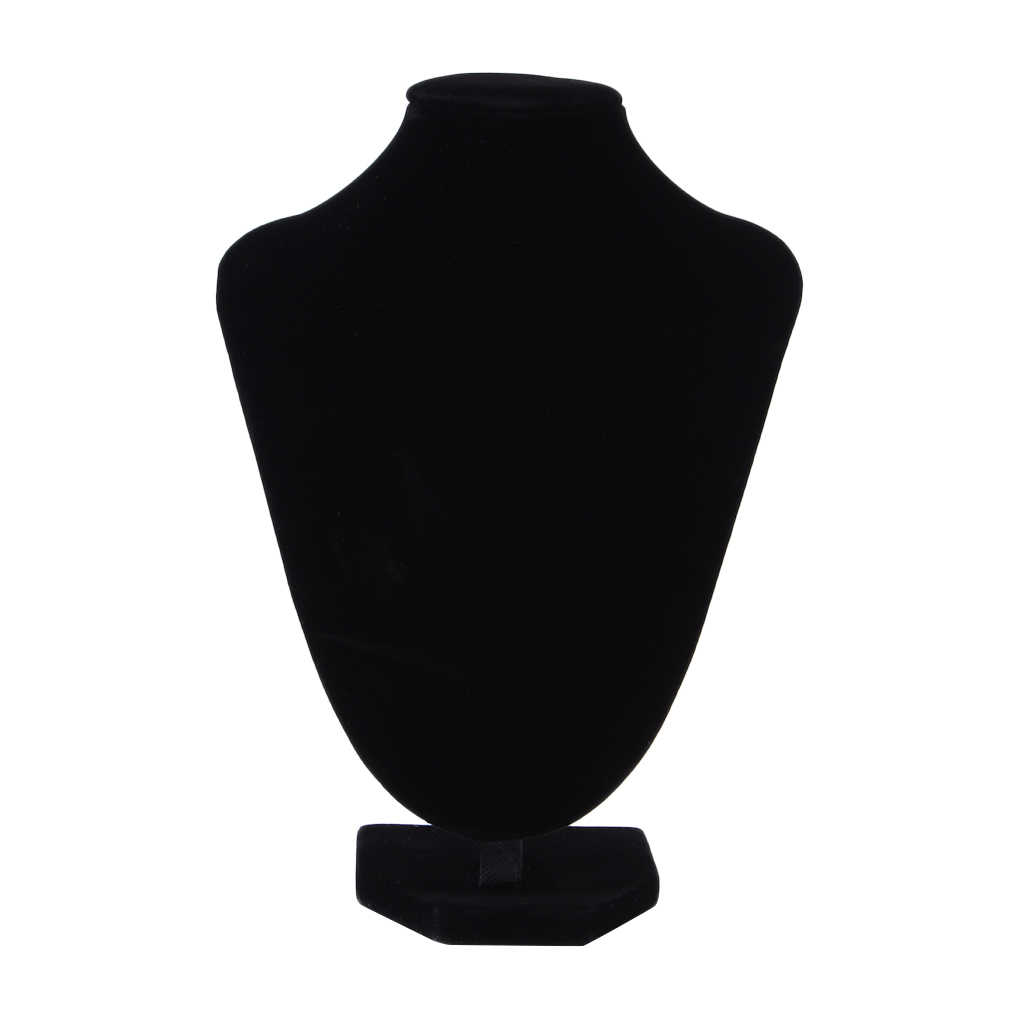 Small Size Necklace Stand Display Rack Black Velvet Jewelry Showing Holder Mannequin Choker Jewelry Organizer Showcase
