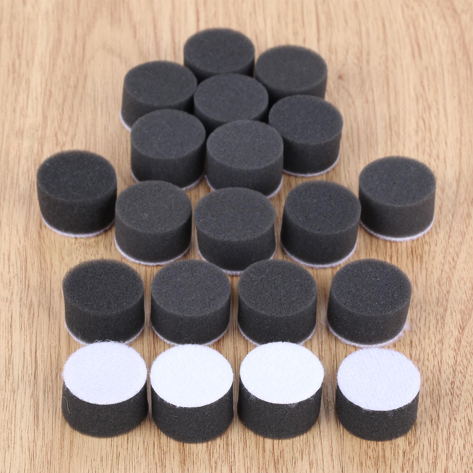 DRELD 20Pcs 1 Inch Sponge Polishing Buffing Pad Kit Hand Tool For Car Polisher Wax Buffer Car Polishing Pad Cleaning Tool Black