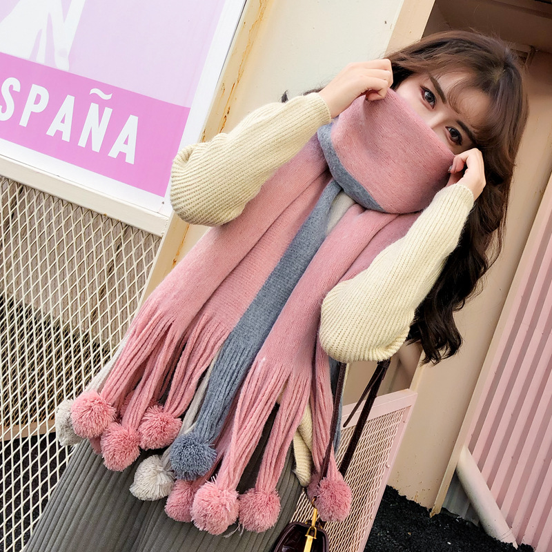 Winter Scarf For Women Cashmere Scarves Soft Wool Long Scarf Shawl Pashmina Warm Warm Wrap Female Poncho Stoles