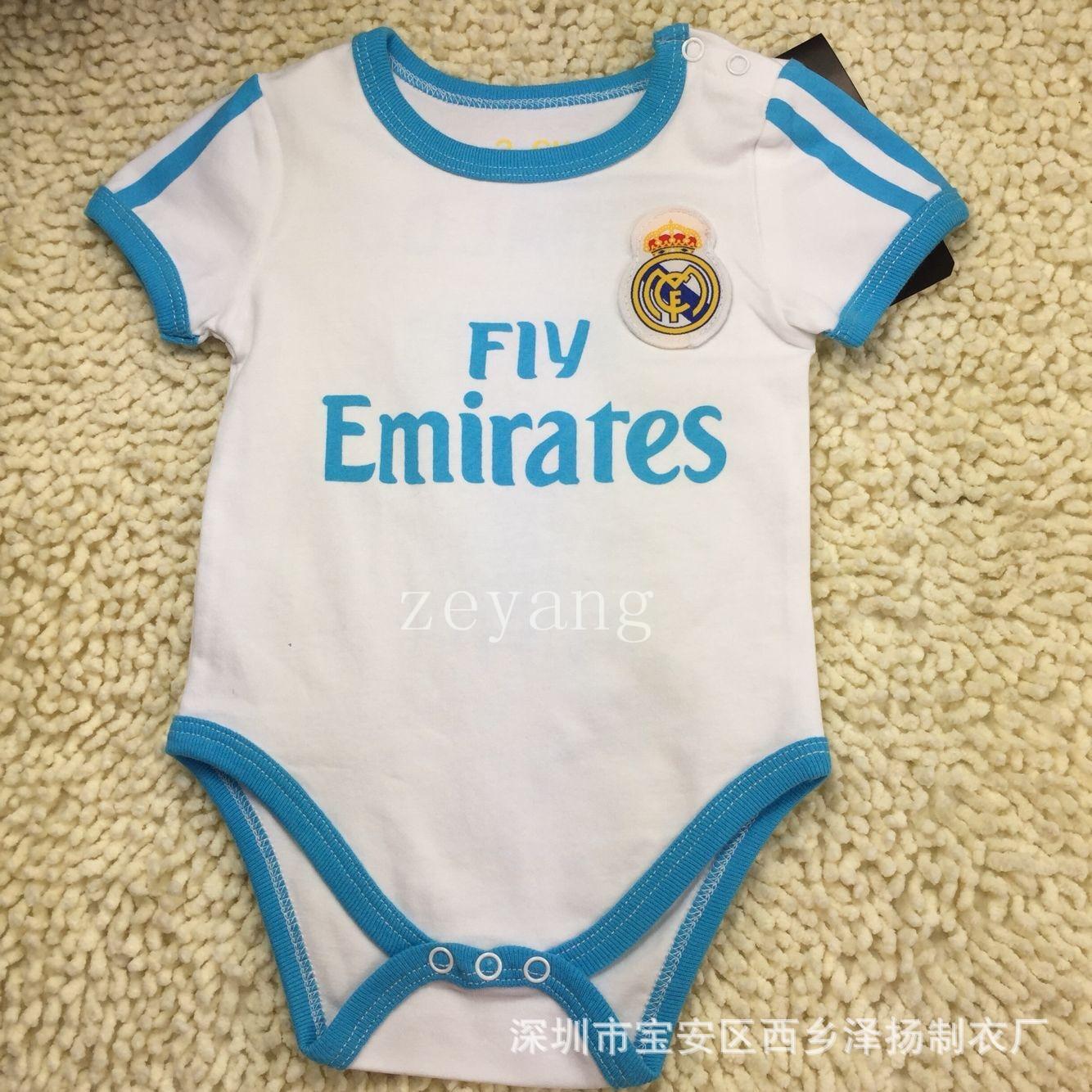 2659449983 Infantil roupas macacão de bebê meninas e meninos populares esportes futebol  de futebol confortável bebê engatinhar macacão