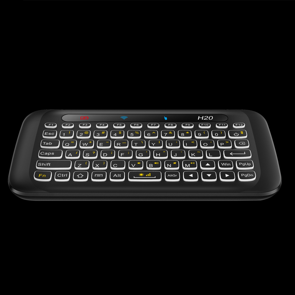 Image 3 - AVATTO Russian,English H20 Full Touchpad Backlit Mini Keyboard with 2.4G Wireless IR Remote Control for Smart TV Android Box PC-in Keyboards from Computer & Office
