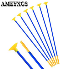 12/24Pcs 18 Archery Children Sucker Arrows Suction Cup Safe Arrow For Outdoor Sports Game Shooting Practice Accessories