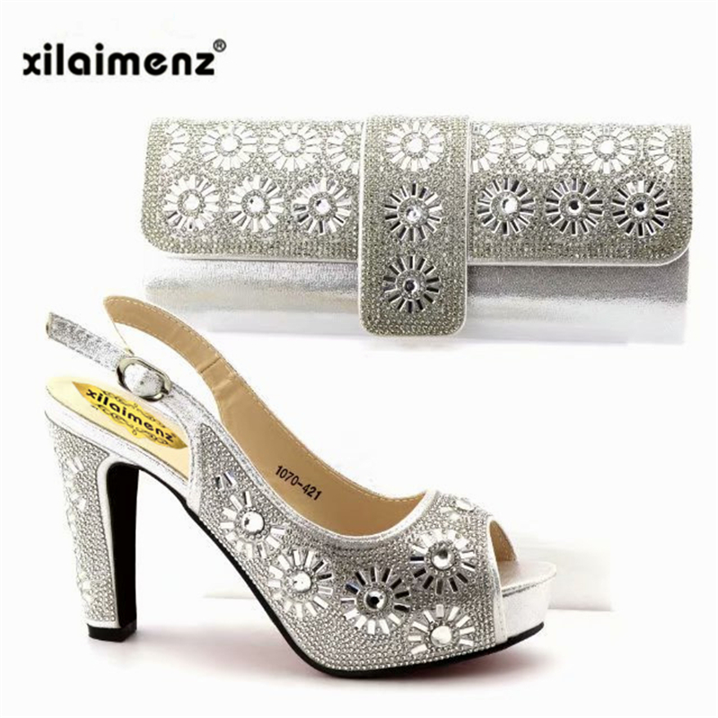 Blue shining crystal Italian shoes with matching bag lady matching shoes  and bag rhinestone African shoes and bag set for partyUSD 47.52 set. Size  Chart psb ... f055b4e52f31
