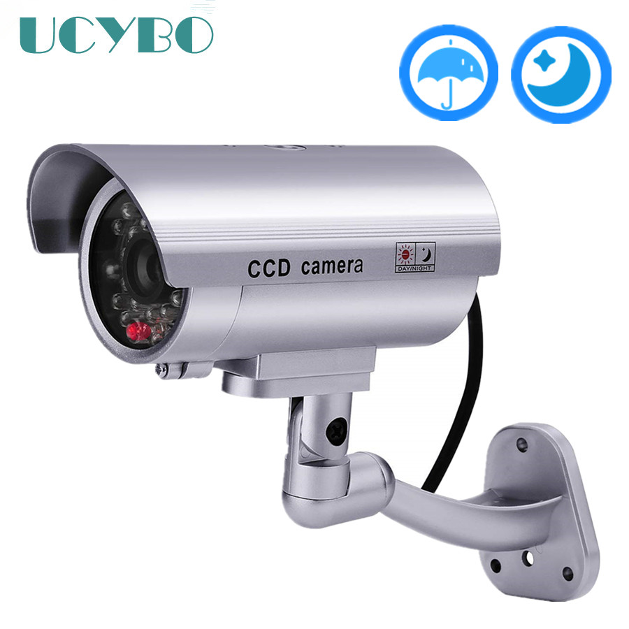 Fake Dummy Camera Security Cctv Video Surveillance Wifi Flashing Red Led Waterproof Outdoor False Dummy Cameras