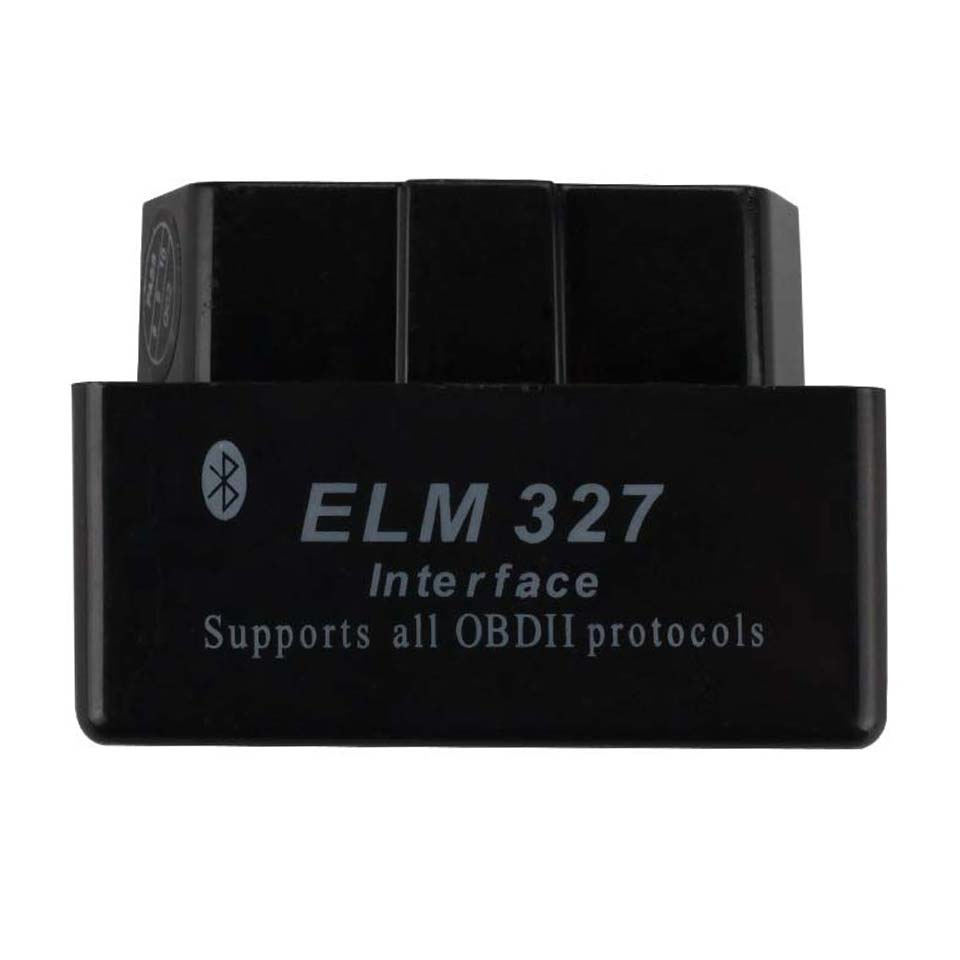 Black Elm327 Bluetooth V1.5 Obd2 Car Diagnostic Tool V <font><b>1.5</b></font> ELM 327 Bluetooth OBD <font><b>2</b></font> Diagnostic Scanner For Android <font><b>PIC18F25K80</b></font> image