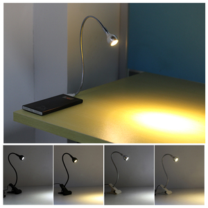 Image 5 - USB Power Clip Holder LED Book Light Desk Lamp 1W Flexible LED Reading Book Lamp Switch On/Off Table Lamp for Bedroom Study Room