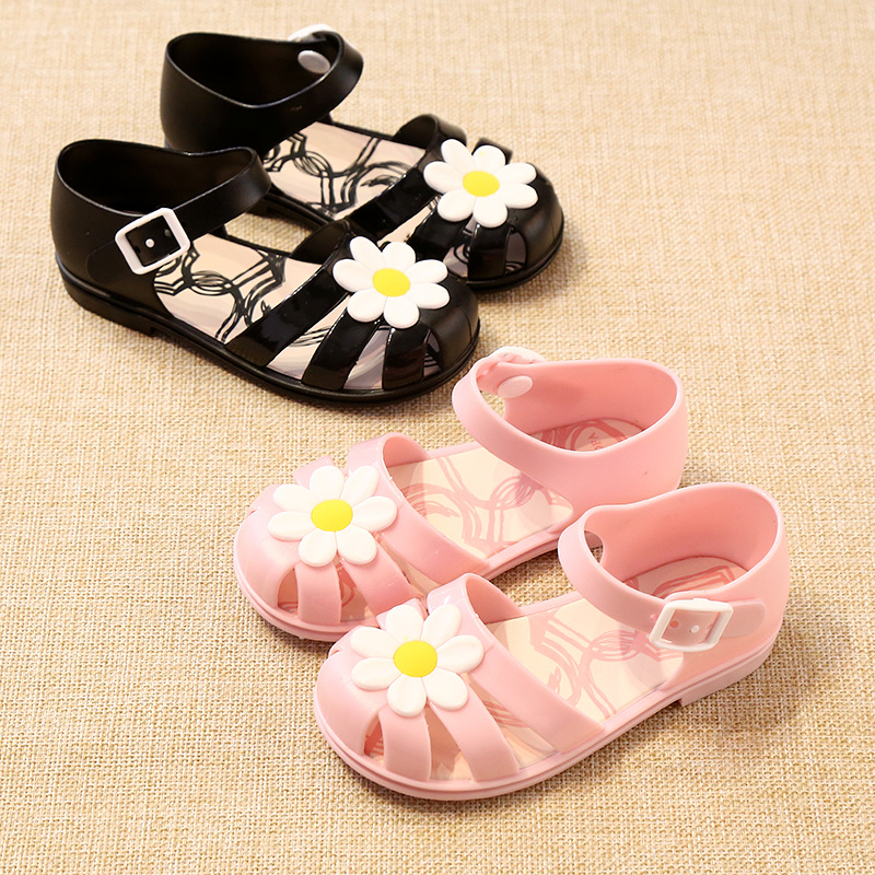 Mini Melissa Cute Flower Girl Jelly Sandals Children Shoes Princess Sandals Brazilian Children Shoes 14.5-17cm Girl Sandals