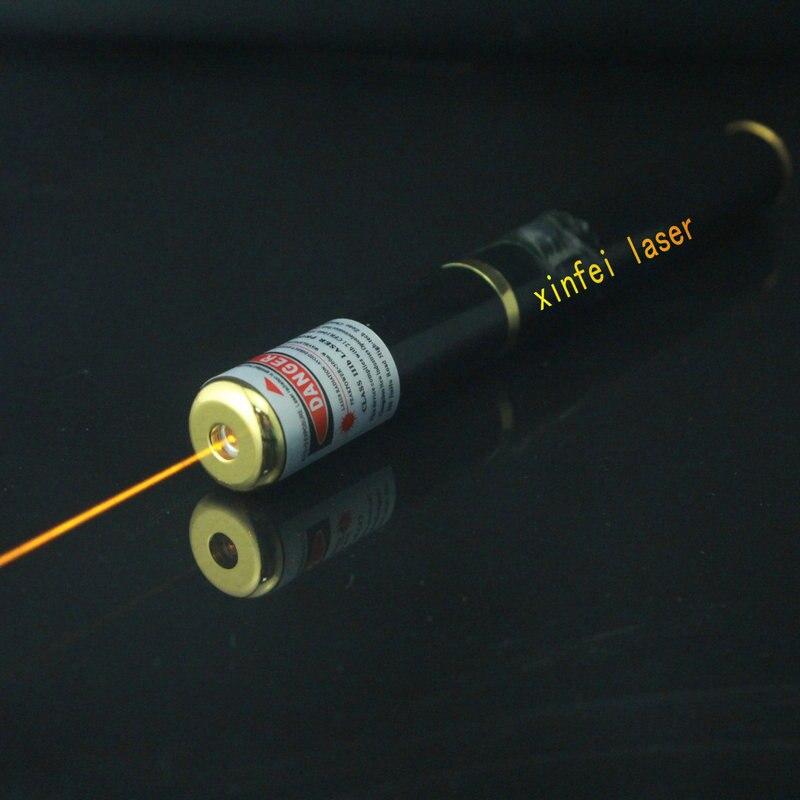 JSHFEI haute quelity 5 mw 589nm Rechargée jaune laser pointeur jaune laser stylo WHOLESA LAZER stylo
