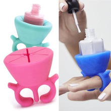 1pc Silica Gel Nail Polish Bottle Finger Holder Beauty Artifact Sets Nail Art Tools Beauty Care Accessories Tools VDZ13 P30