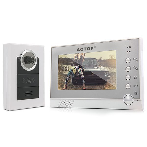 ACTOP VDP-316+CAM-210 Direct factory  7 LCD Video Door Phone Home Entry Intercom Doorbell IR Night Vision Camera US PLUG