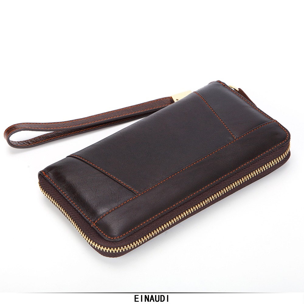 Brand Genuine Leather Wallets Men Fashion Money Bag High Quality Male Long Purses Men Mobile Phone Pocket Man Clutch Card Holder fashion men s long zip leather clutch wallets male famous brand business purses with card holder phone pocket wallet for men