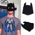 Men Women Batman Crochet Elastic Beanie Black Knitted Mask Hat Handmade Winter Autumn Warm Party Fancy Cosplay Photo Props Cap