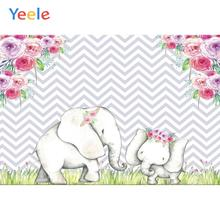 Yeele Baby Shower Backdrop Birthday Party Elephants Photography Backdrops Personalized Photographic Backgrounds For Photo Studio