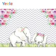 Yeele фон для детских праздников день рождения Слоны фотофоны