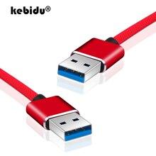 Kebidu 3 kolory super prędkość z męskiego na męskie USB na USB 2.0 kabel USB przedłużenie kabla kabel do synchronizacji danych dla komputera PC 1m