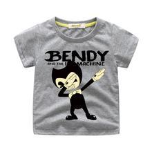 Детские футболки с принтом Dab Bendy, одежда футболки для мальчиков, топы, костюм футболка для девочек Детская летняя футболка для малышей