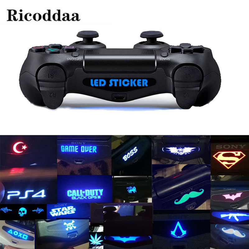 Custom For PS4 Game Light Bar Vinyl Stickers Decal Led Lightbar Cover For Playstation 4 PS4 PRO Slim Controller 10/20/40PCS(China)