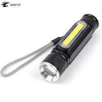 Zoom Flash Light T6 COB LED X900 Flashlight USB Rechargeable Torch Lamp 4 Mode Penlight For