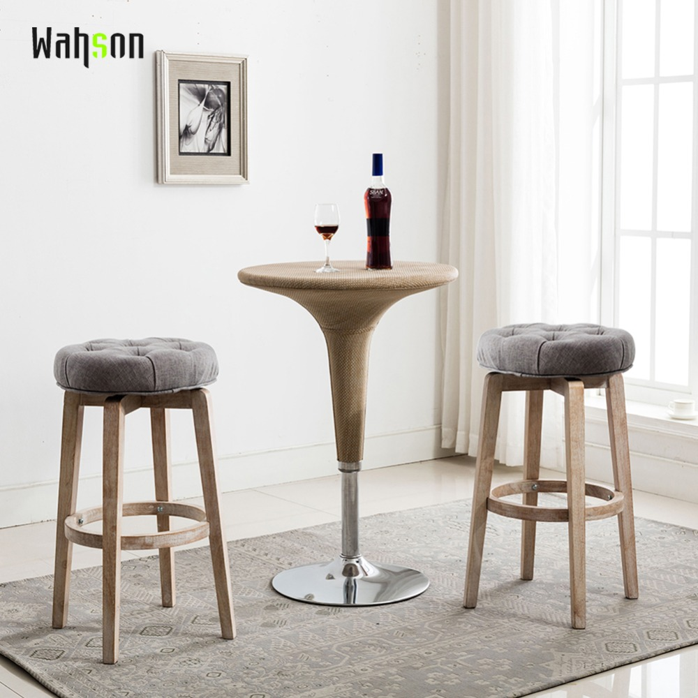 Wahson Counter Height Swivel Bar Stools 30 Inch Tufted Upholstered