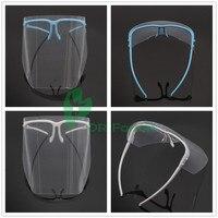 New 2Pc Adjustable Full Face Shield CLEAR Detachable Visor Anti Fog For Dental