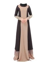 Аппликации Исламская шифоновое платье Турецкая женская одежда abayas для женщин черный Абая Саудовская платье мусульманин Дубай платье хиджаб B8021