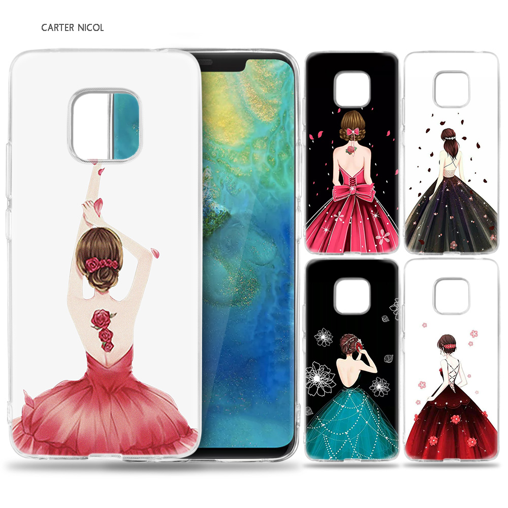 <font><b>Case</b></font> for <font><b>Huawei</b></font> Mate 10 20 Pro P10 P20 P30 Honor 10 8X 8C 8A Lite P Smart Y6 <font><b>Y7</b></font> 2018 <font><b>2019</b></font> V20 Woman <font><b>Girls</b></font> Sexy back image