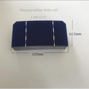 "Image 2 - 25 יחידות 125 מ""מ * 62.5 מ""מ ALLMEJORES Monocrysatlline תאים סולריים 1.4 W 0.5 V כל חתיכה עבור diy 12 V 35 W פנל סולארי מטען"