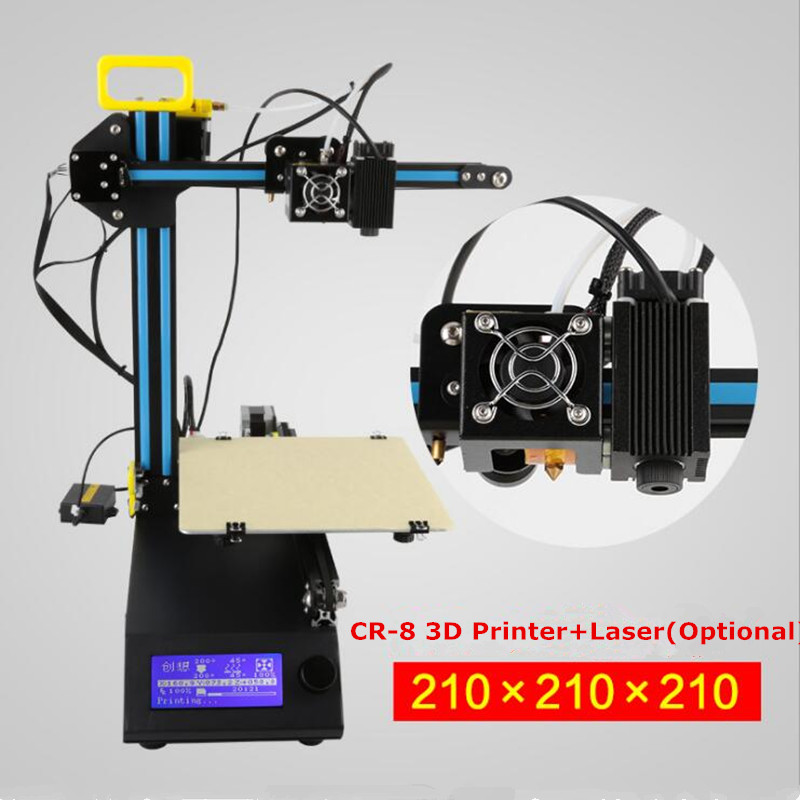 Creality 3 D  Printer Color Mini Laser Engraving Machine CR-8 3D Printer DIY Kit Full Metal Easy Assemble With Free Filament full metal frame heated bed 3d printer professional 3d color printer with 2gb sd card lcd 40m filament for free